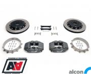 RCM / Alcon 4 Pot Rear Motorsport Brake Kit 343mm 01 - 07 STI